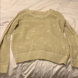 Sweaters - Cream, beige loosely knit sweater size small